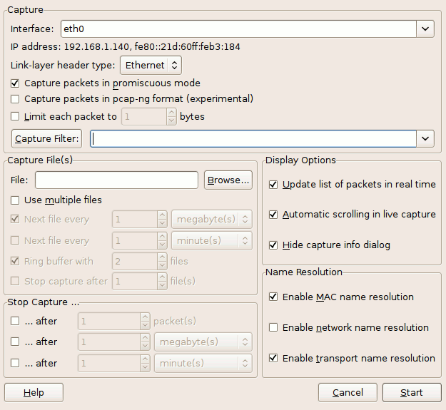 Long-Term Traffic Capture With Wireshark - PacketLife net