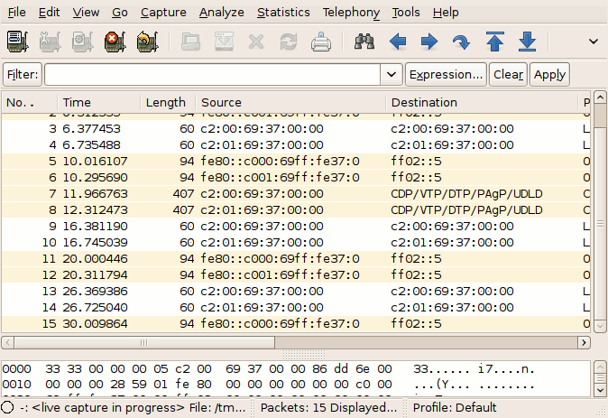 Live Packet Capture in Wireshark With GNS3 - PacketLife net